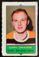 V7514--1969-70 O-Pee-Chee Four-in-One Mini Card Gerry Cheevers