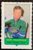 V7518--1969-70 O-Pee-Chee Four-in-One Mini Card Earl Ingarfield
