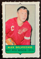 V7529--1969-70 O-Pee-Chee Four-in-One Mini Card Alex Delvecchio
