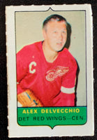 V7530--1969-70 O-Pee-Chee Four-in-One Mini Card Alex Delvecchio