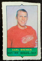 V7532--1969-70 O-Pee-Chee Four-in-One Mini Card Carl Brewer