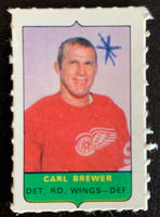 V7533--1969-70 O-Pee-Chee Four-in-One Mini Card Carl Brewer