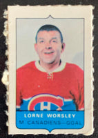 V7542--1969-70 O-Pee-Chee Four-in-One Mini Card Lorne Worsley