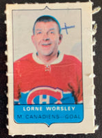V7543--1969-70 O-Pee-Chee Four-in-One Mini Card Lorne Worsley