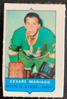 V7555--1969-70 O-Pee-Chee Four-in-One Mini Card Cesare Maniago