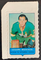V7556--1969-70 O-Pee-Chee Four-in-One Mini Card Cesare Maniago