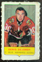V7559--1969-70 O-Pee-Chee Four-in-One Mini Card Denis DeJordy