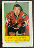 V7560--1969-70 O-Pee-Chee Four-in-One Mini Card Denis DeJordy