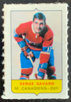 V7563--1969-70 O-Pee-Chee Four-in-One Mini Card Serge Savard