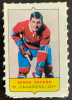 V7564--1969-70 O-Pee-Chee Four-in-One Mini Card Serge Savard