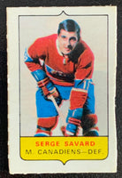 V7565--1969-70 O-Pee-Chee Four-in-One Mini Card Serge Savard