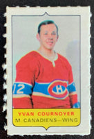 V7568--1969-70 O-Pee-Chee Four-in-One Mini Card Yvan Cournoyer