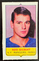 V7579--1969-70 O-Pee-Chee Four-in-One Mini Card Rod Gilbert