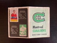 V7589--1969-70 O-Pee-Chee Four-in-One Card Album Montreal Canadiens