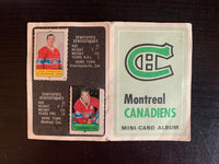 V7590--1969-70 O-Pee-Chee Four-in-One Card Album Montreal Canadiens