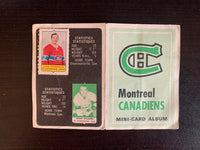 V7591--1969-70 O-Pee-Chee Four-in-One Card Album Montreal Canadiens
