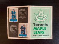 V7592--1969-70 O-Pee-Chee Four-in-One Card Album Toronto Maple Leafs