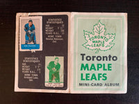 V7594--1969-70 O-Pee-Chee Four-in-One Card Album Toronto Maple Leafs