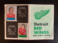 V7602--1969-70 O-Pee-Chee Four-in-One Card Album Detroit Red Wings