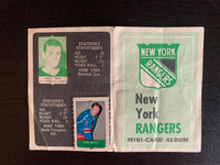 V7607--1969-70 O-Pee-Chee Four-in-One Card Album New York Rangers