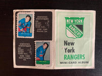 V7608--1969-70 O-Pee-Chee Four-in-One Card Album New York Rangers