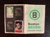 V7615--1969-70 O-Pee-Chee Four-in-One Card Album Boston Bruins