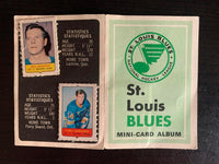 V7622--1969-70 O-Pee-Chee Four-in-One Card Album St. Louis Blues