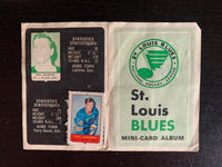 V7623--1969-70 O-Pee-Chee Four-in-One Card Album St. Louis Blues