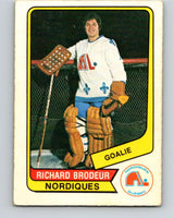 1976-77 WHA O-Pee-Chee #12 Richard Brodeur  Quebec Nordiques  V7648