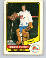 1976-77 WHA O-Pee-Chee #12 Richard Brodeur  Quebec Nordiques  V7649
