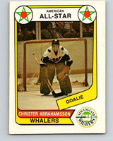 1976-77 WHA O-Pee-Chee #67 Christer Abrahamsson AS  New England Whalers  V7710