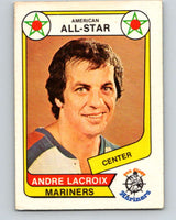 1976-77 WHA O-Pee-Chee #70 Andre Lacroix AS  San Diego Mariners  V7715