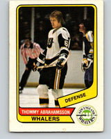 1976-77 WHA O-Pee-Chee #79 Thommy Abrahamsson  New England Whalers  V7725