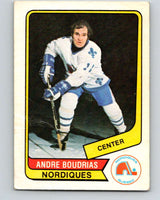 1976-77 WHA O-Pee-Chee #87 Andre Boudrias  Quebec Nordiques  V7735