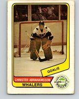 1976-77 WHA O-Pee-Chee #110 Christer Abrahamsson  New England Whalers  V7765