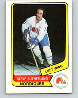 1976-77 WHA O-Pee-Chee #127 Steve Sutherland  RC Rookie Quebec Nordiques  V7791