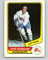 1976-77 WHA O-Pee-Chee #127 Steve Sutherland  RC Rookie Quebec Nordiques  V7792