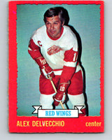 1973-74 O-Pee-Chee #1 Alex Delvecchio  Detroit Red Wings  V7919