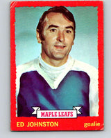 1973-74 O-Pee-Chee #23 Ed Johnston  Toronto Maple Leafs  V8012