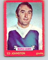 1973-74 O-Pee-Chee #23 Ed Johnston  Toronto Maple Leafs  V8013