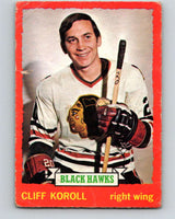 1973-74 O-Pee-Chee #28 Cliff Koroll  Chicago Blackhawks  V8032