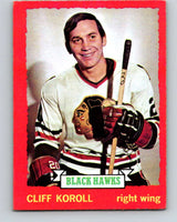 1973-74 O-Pee-Chee #28 Cliff Koroll  Chicago Blackhawks  V8034