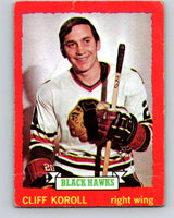 1973-74 O-Pee-Chee #28 Cliff Koroll  Chicago Blackhawks  V8035