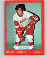 1973-74 O-Pee-Chee #33 Henry Boucha  RC Rookie Detroit Red Wings  V8058