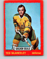 1973-74 O-Pee-Chee #37 Ted McAneeley  California Golden Seals  V8069