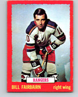1973-74 O-Pee-Chee #41 Bill Fairbairn  New York Rangers  V8085