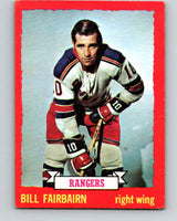 1973-74 O-Pee-Chee #41 Bill Fairbairn  New York Rangers  V8086
