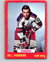 1973-74 O-Pee-Chee #41 Bill Fairbairn  New York Rangers  V8088
