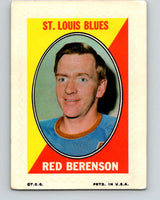1970-71 Topps Sticker Stamps #2 Red Berenson  St. Louis Blues  V8648