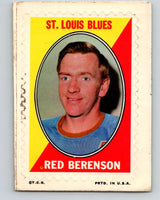 1970-71 Topps Sticker Stamps #2 Red Berenson  St. Louis Blues  V8649